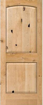 2 Panel Arch Top Knotty Alder Raised Solid Core Interior Wood 6'8 Doors - Slabs Alder Wood Doors