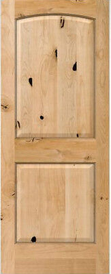 Authentic Knotty Alder 2 Panel Arch Top Interior Doors Solid Wood 8'0H x 1-3/8TH Alder Wood Doors