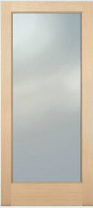 1 lite hemlock stain grade solid exterior entry or patio for Solid french doors exterior