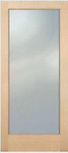 1 Lite Hemlock Stain Grade Solid Exterior Entry or Patio French Doors Wood Door
