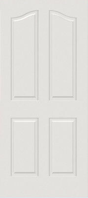 Primed Smooth Surface Mdf 4 Raised Panel Eyebrow Top Solid Core Interior Doors