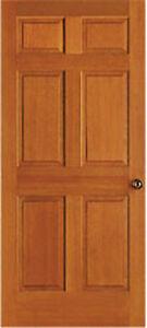 6 Panel Solid Wood Interior Doors