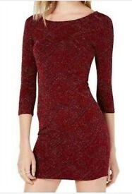 Trixxi Mini Bodycon Dress Wine Red