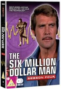 6 SIX MILLION DOLLAR MAN Complete Series 4 DVD Fourth Season UK RELEASE NEW R2