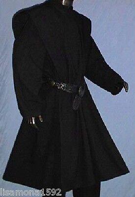 Waffenrock Efyn NEU Schwarz Gothic LARP Mittelalter Fasching Burgfest Ritter