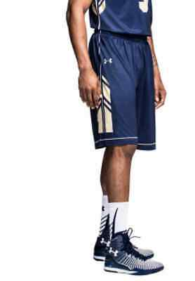 Gametime Basketball Shorts - New Under Armour Navy Midshipmen Men's L Basketball Armourfuse Gametime Shorts