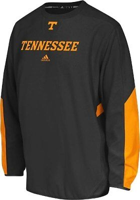 (Tennessee Volunteers Adidas Sideline Climawarm Long Sleeve Fleece Shirt - Black)