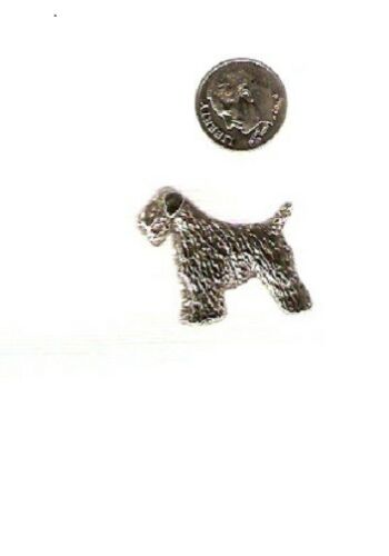 Soft Coated Wheaten Terrier Nickel Silver Brooch Pin Jewelry*