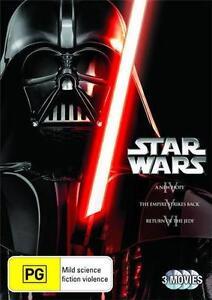 STAR WARS TRILOGY Episodes 4+5+6 = NEW R4 DVD