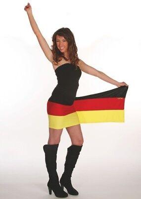 Deutschlandfan Kleid Multi-Tuch aus Designer Kollektion für die Fußball WM 2018  Fan-kleid