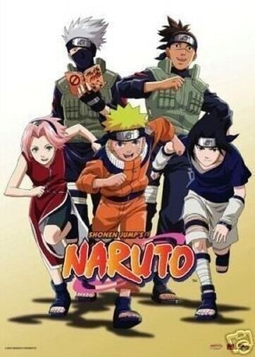 """Naruto: In Group Of 5,  Fabric Wall Scroll 31""""X43"""""""