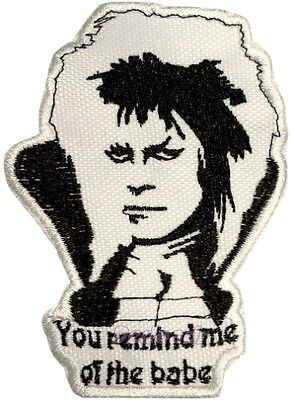 Labyrinth Embroidered Patch Jareth Goblin King You Remind me of the Babe Knocker