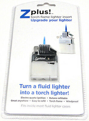 Z-plus Butane Case Lighter Insert, Jet torch Great for cigar and pipes windproof
