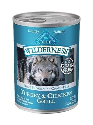 BLUE BUFFALO TURKEY & CHICKEN GRILL ADULT FOOD Canned 12.5oz By the Case