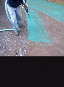 hydro ensemencement gazon/ hydroseeding