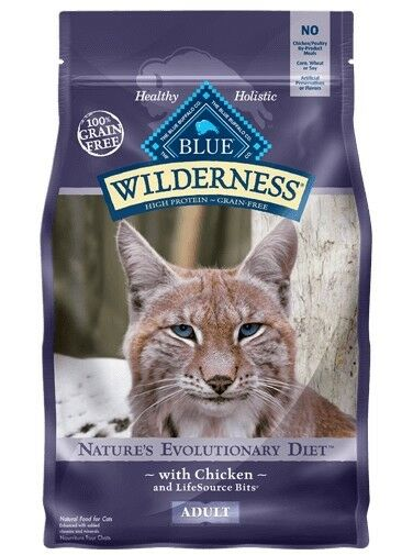 Blue Buffalo Wilderness Chicken Recipe Adult Cat Food, 6 lbs