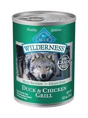 BLUE BUFFALO DUCK & CHICKEN GRILL ADULT FOOD Canned 12.5oz By the Case