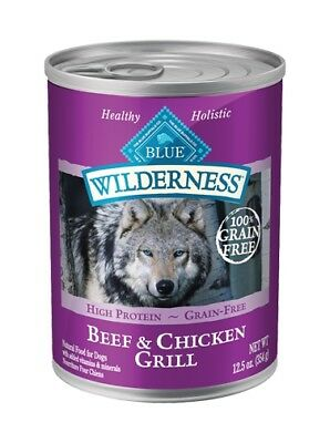 BLUE BUFFALO BEEF & CHICKEN GRILL ADULT FOOD Canned 12.5oz
