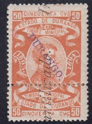 MEXICO, 1893-94. Revenue Durango Stamp Tax DU76B, Mint