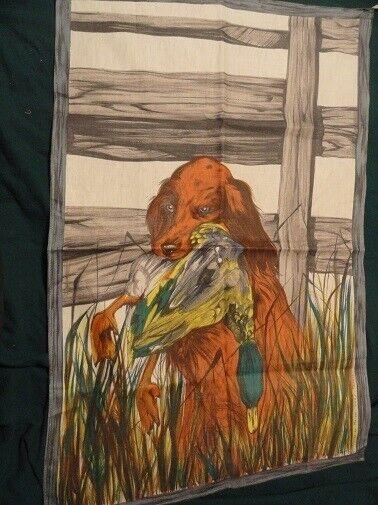 Irish Setter Pheasant Tea Towel from France