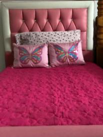Pink Diamond Single Bed Frame