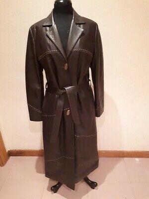 Abrigo Gabardina de Piel / Leather Coat