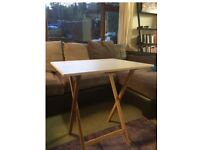 Habitat bamboo and white lacquer folding dining table