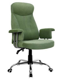 BRAND NEW UNWANTED LUXURY FABRIC OFFICE CHAIR