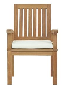 Brand new Teak Patio Chairs or Dining Chairs including cushions