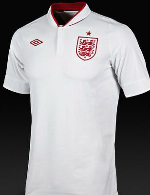 Offiial Mens England Home Football Shirt 46 inch UK XL Retro Top World Cup