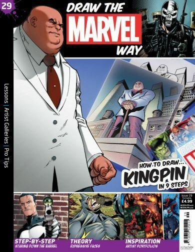 NEW Draw the Marvel Way Issue 29 - KINGPIN with 6 Colouring Pencils