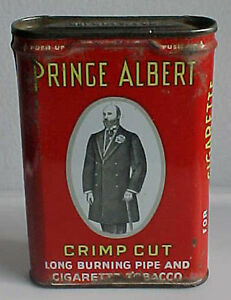 PRINCE ALBERT Pocket Tin PIPE AND CIGARETTE TOBACCO