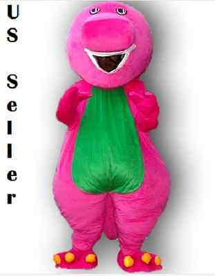 Barney the Dinosaur Adult Size Halloween Cartoon Mascot Costume Fun~U.S. Seller!](Barney Halloween Costume Adults)