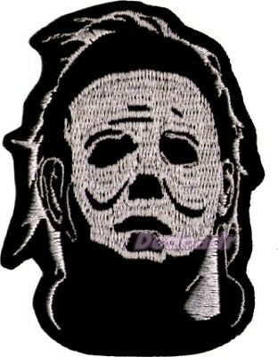 Halloween Michael Myers Mask Embroidered Patch Horror Movie Mike Resurrection
