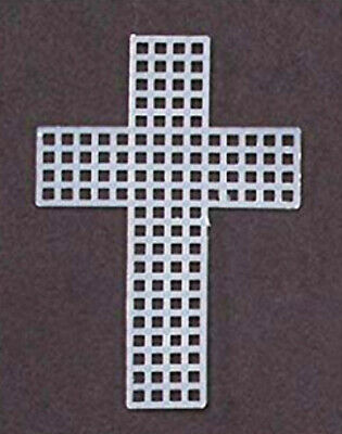 Darice Needlecraft Supplies Plastic Canvas 3 inch Cross Shapes (Pack of 10 pcs) Plastic Canvas Cross