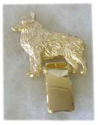 Schipperke Gold Plated Ring Clip Pin Jewelry*