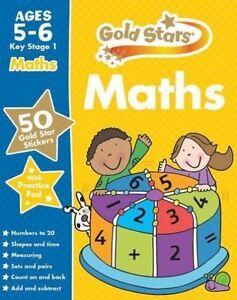 Gold Stars Maths kS1 5-6 (Gold Stars Ks1 Workbooks), Gold Stars, New Book