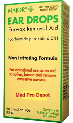 1 Bottle of Ear Wax Removal Drops 1/2 (0.5) oz (15ml) - Compare to Debrox! ()