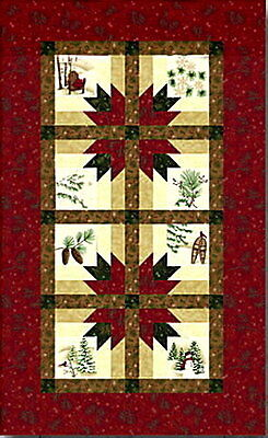 HOLIDAY IN THE PINES TABLE RUNNER QUILT KIT - Pattern + Moda