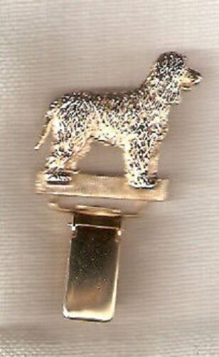 Irish Water Spaniel Gold Plated Ring Clip Pin Jewelry*