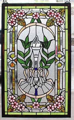 Tiffany Fensterbild Glasbild Wandbild Antikfenster Tiffanybild TE24-b