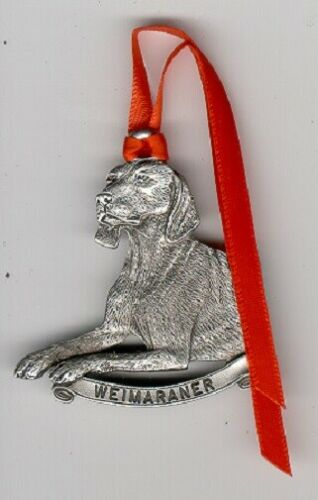 Weimaraner Weim Pewter Christmas Ornament*