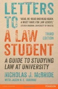 Letters to a Law Student: A Guide to Studying Law at University - Paperback Book
