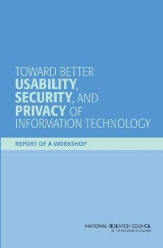Toward Better Usability, Security,  BOOK NEW