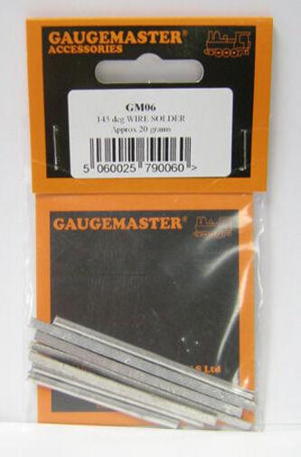 Gaugemaster GM06 - 20gms Pack Low Melt 145 Deg Solder for Brass