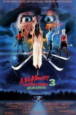 Nightmare On Elm Street Part 3 Movie Poster 24in x 36in