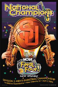 SYRACUSE ORANGEMEN NCAA Basketball Final Four 2003 CHAMPIONS Original Poster