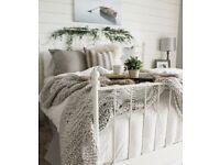 Ikea Leirvik Euro King Size Bedframe + Slats (free mattress optional)