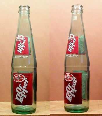 Dr Pepper Old Vintage ACL 10 oz ounce Soda Pop Bottle Two Sided 438