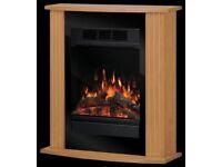 Dimplex Orvieto 1.5kW Electric Micro-Fireplace - Oak & Black New